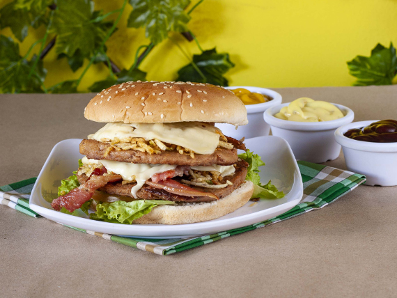Hamburguesa Doble Carne y Tocineta