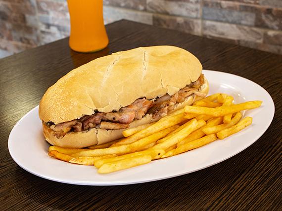 Combo molleja - Sánwich de molleja + papas fritas + bebida