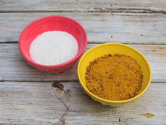 Azúcar integral mascabo 1 kg + coco rallado 100 g