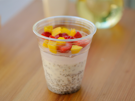 Chia pudding con frutas