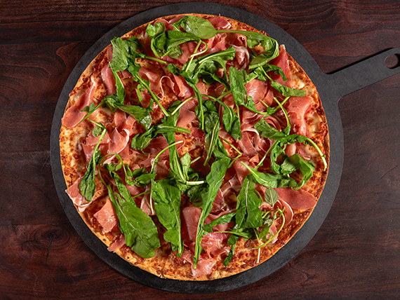 Pizza jamón serrano y rúcula XL