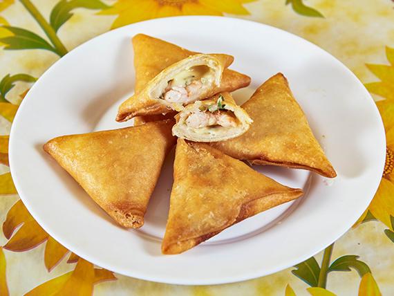 Camarón mandarin con queso