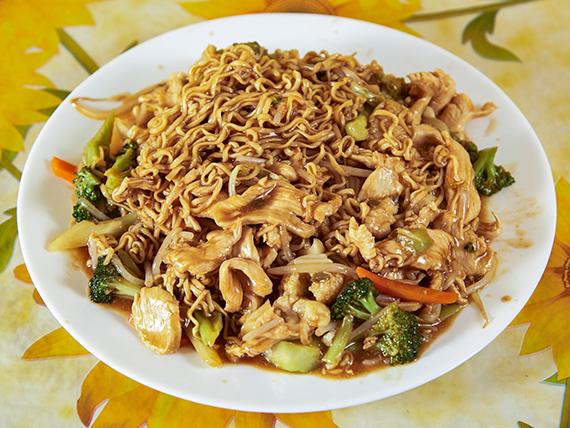 Chaumin de pollo con verduras