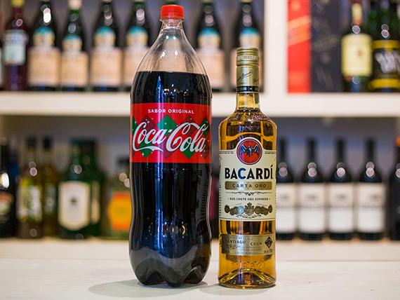 Promo - Bacardi Gold 750 ml + Coca Cola 2.25 L