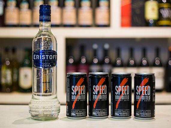 Promo - Vodka Eristoff 750 ml + 4 speed