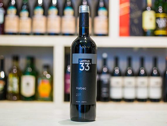 Vino Latitud 33 malbec 750 ml