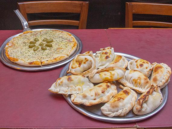 Promo 1 - 1 Pizza con muzzarella + 12 empanadas