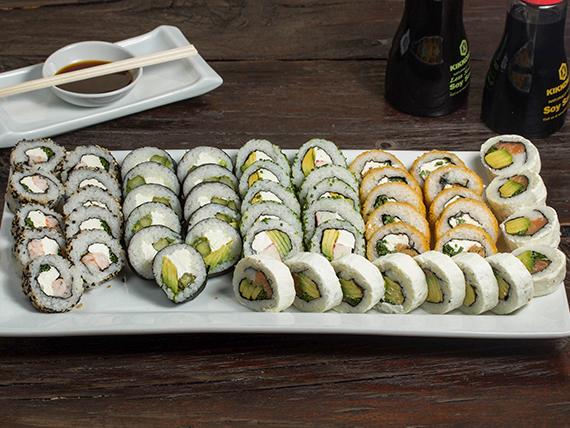 Promoción - Menú veggie & sake ebi 50 piezas