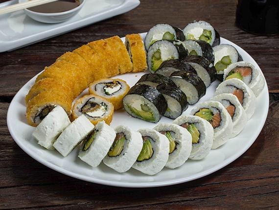 Promoción - Menú veggie & sake 30 piezas