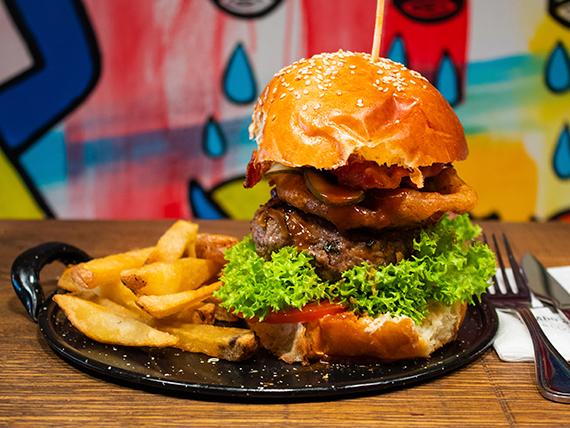 Fat texan burger