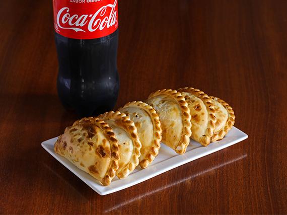 Promo - 6 empanadas + refresco Coca Cola 1.5 L
