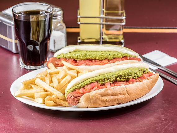 Promo satisfaction - 2 sándwiches completos o italianos + bebida mini 250 ml + papas fritas
