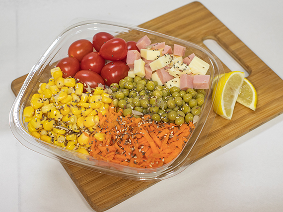 Ensalada de arroz con legumbres