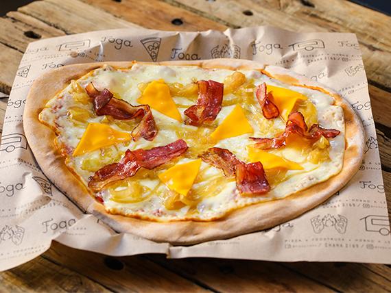 Pizzeta muzzarella clásica con tres gustos