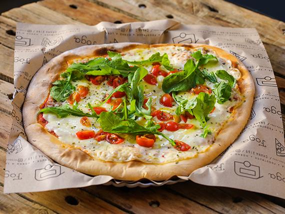 Pizzeta muzzarella clásica con dos gustos