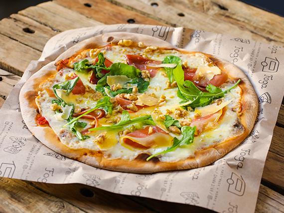 Pizzeta muzzarella premium con cuatro gustos