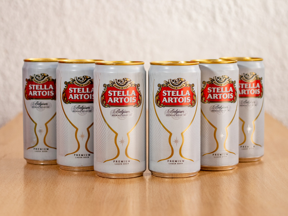 Llevas 6 pagas 5 - Cerveza Stella Artois en lata de 500 ml