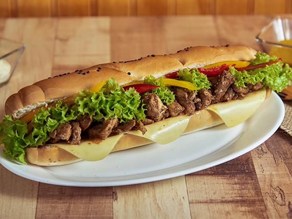 Sándwich de pollo con 5 ingredientes a elección