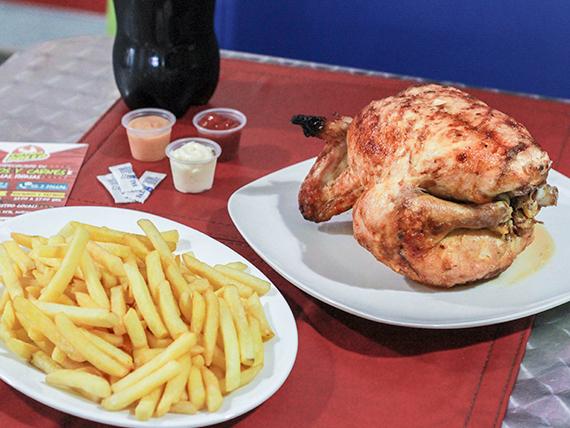Combo 1 - Pollo entero + papa doble + gaseosa 1.5 L
