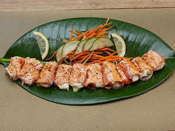 Geishas salmón flameadas (10 unidades)