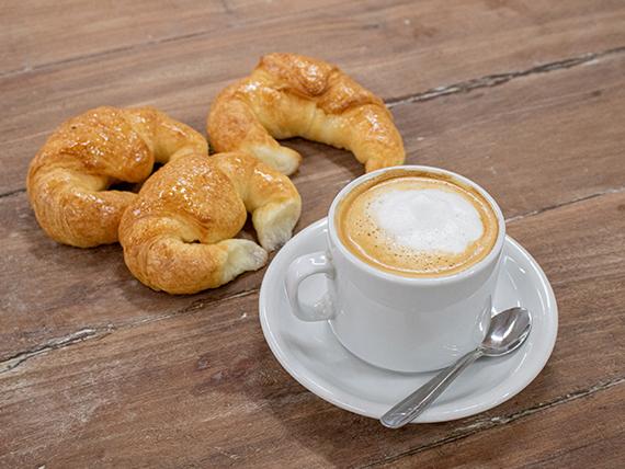 Promo - Café con leche 300 ml + 3 medialunas