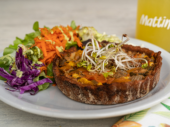 Tarta de Mix de vegetales + ensalada