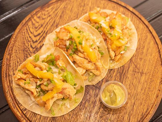 Tacos al Pastor de Pollo