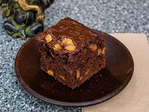 Brownie de chocolate vegano sin azúcar 150 g