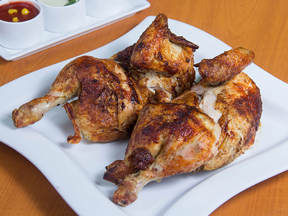 Pollo solo + ají de rocoto + salsa vinagreta