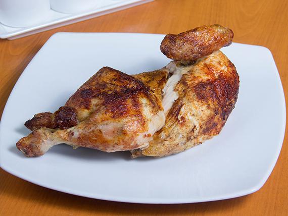 1/2 pollo solo + ají de rocoto + salsa vinagreta