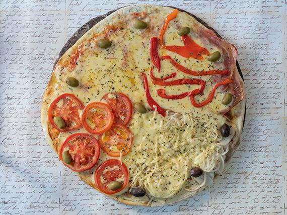 Promo - 1 pizza gigante 4 gustos a elección