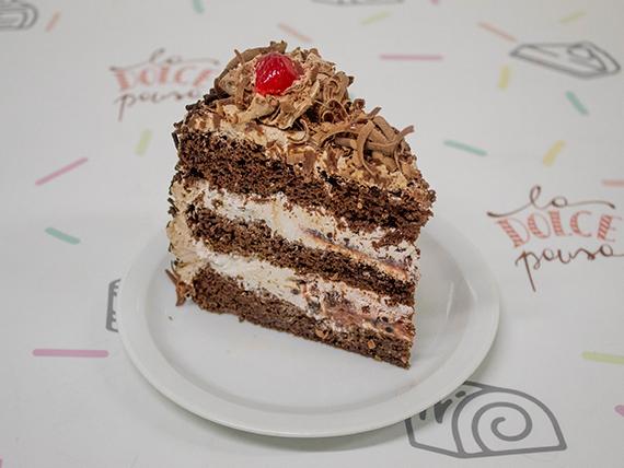 Torta Selva negra (porción)