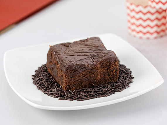 Brownie de chocolate (porción)