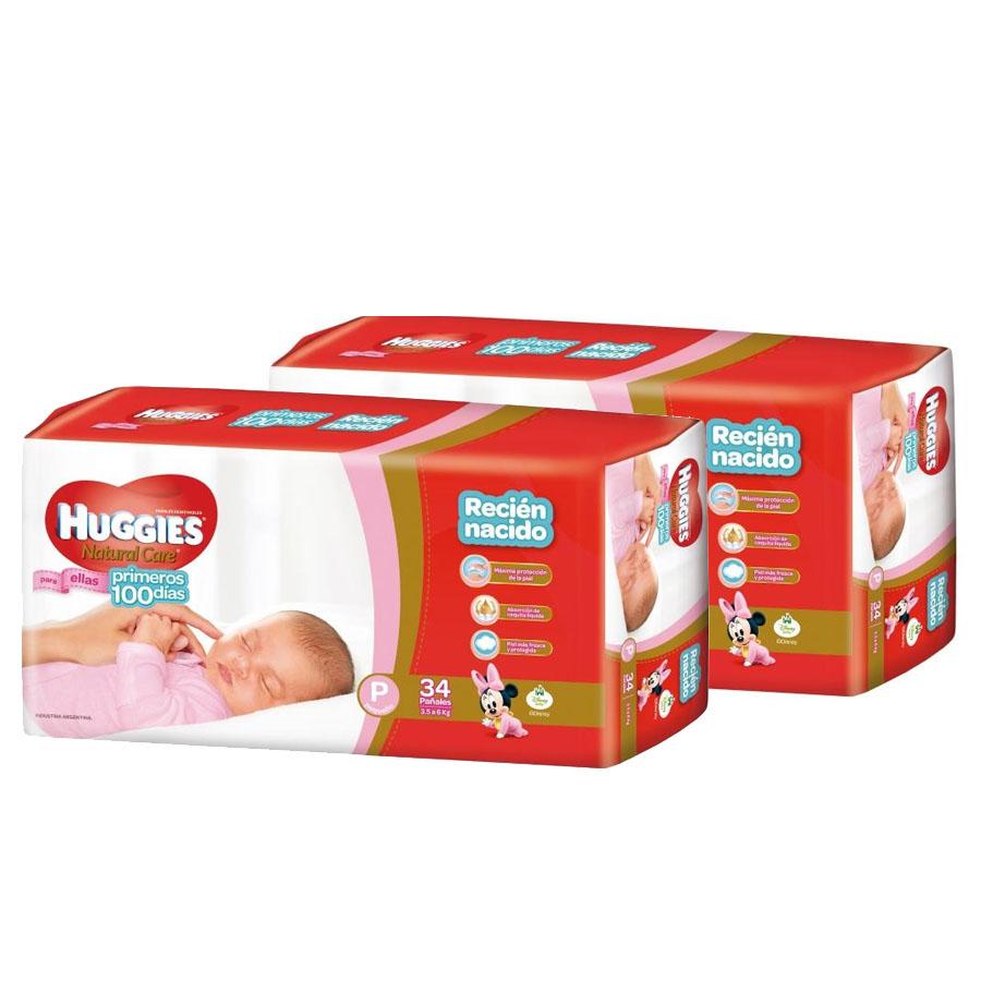 2dce02a1128 Pañales Huggies Pack Super Ahorro Ellas Talle P X 68