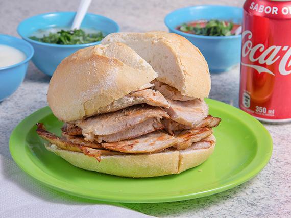 Sándwich de lomo + bebida 350 ml