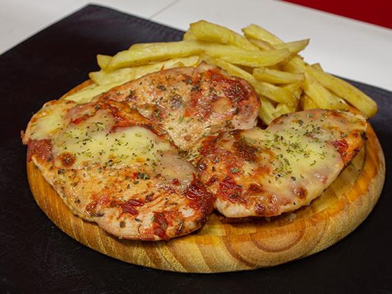 Lonjas de suprema de pollo napolitanas