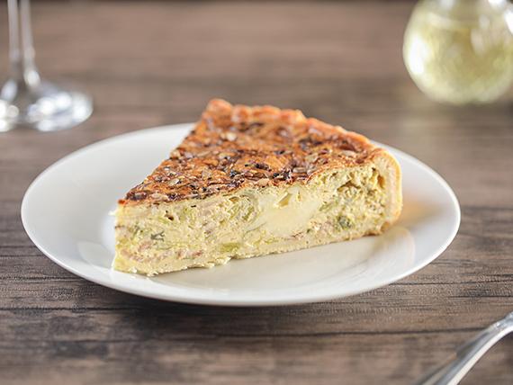 Tarta de puerro y queso blanco