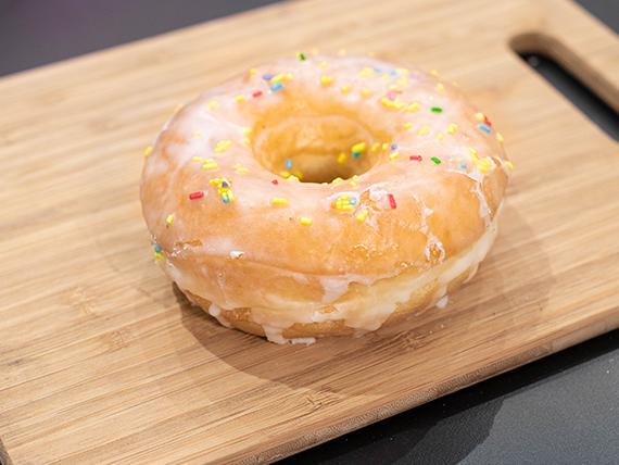 Donut Coldplay con glaseado de limón
