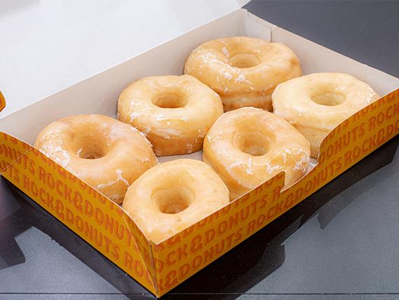 Promo - 1/2 docena de donuts pop glaseadas
