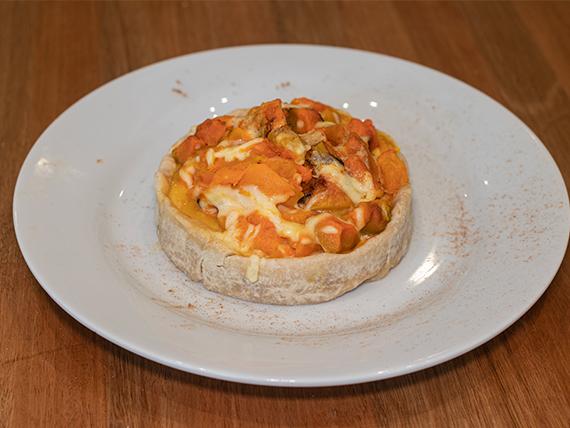 Tarta de calabaza y canela con queso fundido