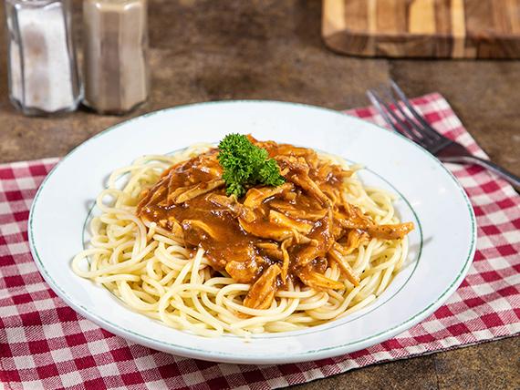 Spaghettis con pollo
