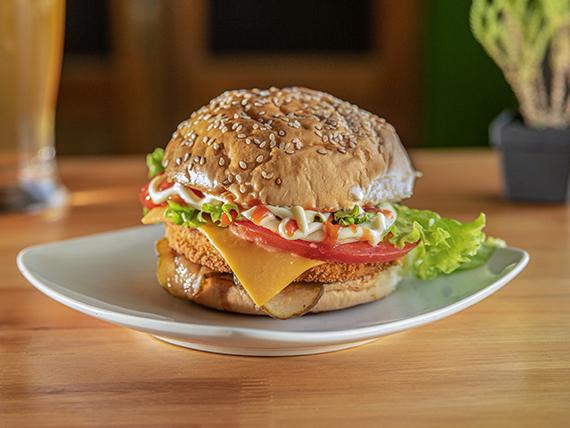 The pollo deluxe burger