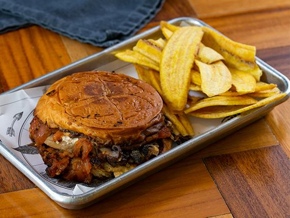 Portobello melt sándwich