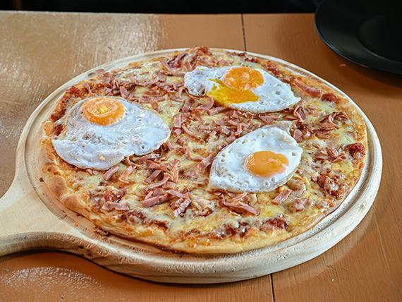 Pizzeta bacon egg