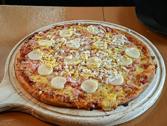 Pizzeta con palmitos