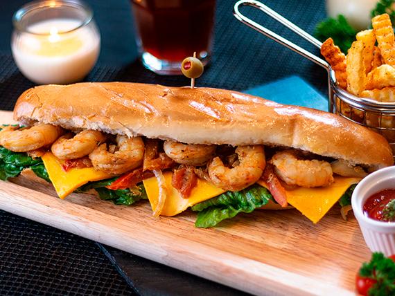 Combo - Sándwich kudo de camarones
