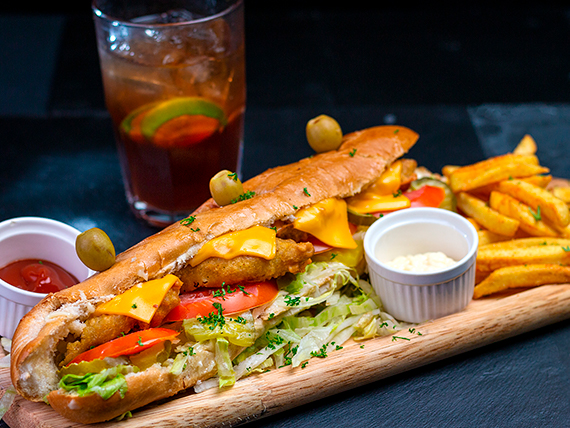 Combo - Sándwich kudo de pescado