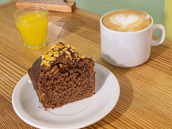 Promo - Café con leche + porción de budín