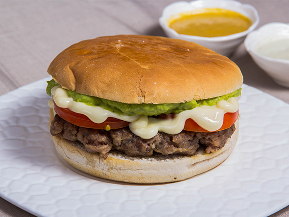 Hamburguesa o ave italiana