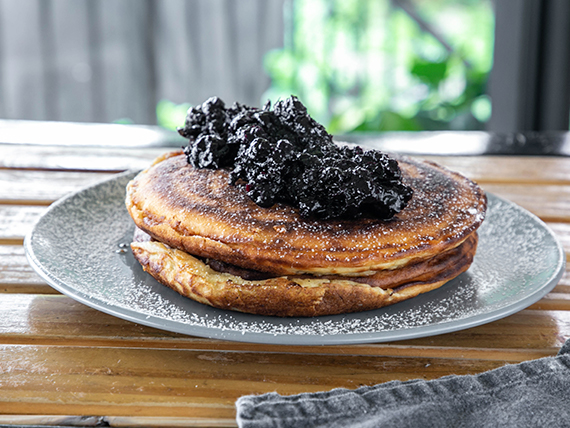 Pancake con blueberries